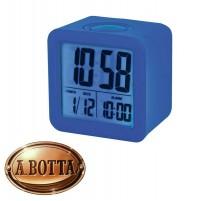 Orologio Sveglia Digitale a Cubo Trevi SLD 3865 Blu Gommato + Calendario