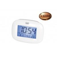 Orologio Sveglia Digitale con Termometro e Calendario Trevi SLD 3016 Bianco