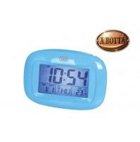 Orologio Sveglia Digitale con Termometro e Calendario Trevi SLD 3016 Blu