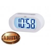 Orologio Sveglia Gommata Trevi SLD 3870 Bianco BIG Display Digitale LCD Snooze