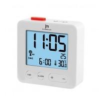 Orologio Sveglia Radiocontrollata JM JD9031B Bianco con Temperatura Interna Data