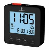 Orologio Sveglia Radiocontrollata JM JD9031B Nero con Temperatura Interna Data