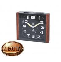 Orologio Sveglia al Quarzo Trevi SL 3095 V Legno con Movimento Silenzioso