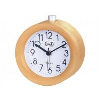 Orologio Sveglia al Quarzo in Legno Naturale Trevi SL 3841 Movimento Silenzioso