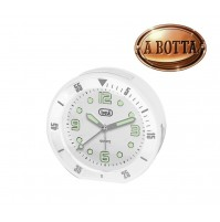 Orologio al Quarzo con Sveglia Trevi SL 3091 R Bianco Sweep Silenziosa Luce Led