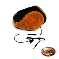 Paraorecchie con cuffie e microfono HI-EAR colore Marrone originale Hi-Fun 700