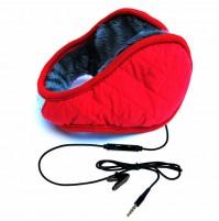Paraorecchie con cuffie e microfono HI-EAR colore Rosso originale Hi-Fun 229
