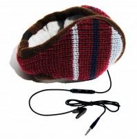 Paraorecchie con cuffie e microfono HI-EAR colore Rosso originale Hi-Fun 298