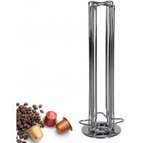 Porta 40 Capsule Cialde Caffè a Torre in Metallo Compatibile Nespresso - 34884