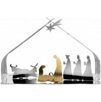 Presepe Alessi BM09 Bark Crib Acciaio Inox 18/10 - Presepio Natale Crib Natività