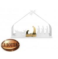 Presepe Alessi BM09 W Bark Crib Bianco Acciaio - Presepio Natale Crib Natività