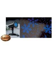 Proiettore LED Fiocchi di Neve da Esterno IP44 - Luce Fredda Natale con Timer