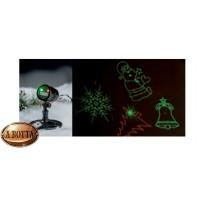 Proiettore Laser Figure Natalizie da Esterno IP44 - Rosso Verde Natale con Timer