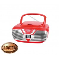 Radio CD Stereo Portatile Vintage TREVI CMP 562 USB Rosso - MP3 AUX-IN Retrò