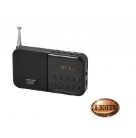 Radio FM Portatile Digitale TREVI DR 740 Nero Lettore Mp3 e Micro SD - Radio
