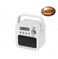 Radio FM Portatile TREVI DR 750 BT Bianco Lettore Mp3 Micro SD Bluetooth