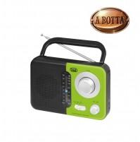 Radio Portatile AM/FM Trevi RA 768 S Verde Nero - Uscita Cuffie Jack 3,5 mm