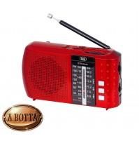 Radio Portatile Multibanda FM-AM-SW Bluetooth Trevi RA 7F20 BT Rosso USB MicroSD