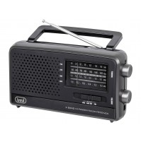 Radio Portatile Multibanda TREVI MB 746 Nero - FM AM SW Uscita Cuffia 3,5 mm
