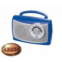 Radio Portatile Vintage AM FM TREVI RA 761 Blu    Batterie + 220 Volt AC