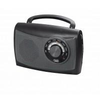 Radio Portatile Vintage AM FM TREVI RA 761 Nero    Batterie + 220 Volt AC