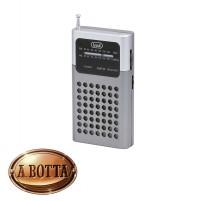 Radio Portatile a Batterie AM FM TREVI RA 714 Silver con Cuffie + Altoparlante