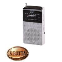 Radio Portatile a Batterie AM FM TREVI RA 725 Bianco con Cuffie + Altoparlante