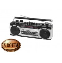 Radio Registratore + CASSETTA TREVI RR 501 BT Silver Bluetooth Stereo USB SD MP3
