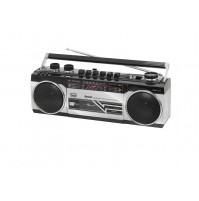 Radio Registratore + CASSETTA TREVI RR 501 BT Silver Bluetooth Stereo USB SD MP3