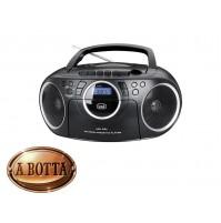 Radio Registratore Portatile CD e CASSETTA TREVI CMP 572 Nero Radio AM/FM USB
