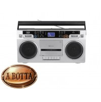 Radio Registratore a CASSETTE TREVI RR 504 BT Silver Bluetooth Stereo USB MP3
