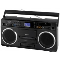 Radio Registratore a CASSETTE Trevi RR 504 BT Nero Bluetooth Stereo USB MP3