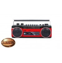 Radio Registratore cn CASSETTA TREVI RR 501 BT Rosso Bluetooth Stereo USB SD MP3
