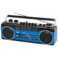 Radio Registratore con CASSETTA TREVI RR 501 BT BLU Bluetooth Stereo USB SD MP3