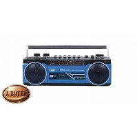 Radio Registratore con CASSETTA TREVI RR 501 BT Blu Bluetooth Stereo USB SD MP3