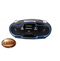 Radio Registratore con CD e CASSETTA TREVI CMP 574 USB Blu 20 Watt MP3 Radio FM