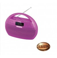 Radio Riproduttore Stereo con MP3 Bluetooth USB Micro SD TREVI KB 308 BT Viola
