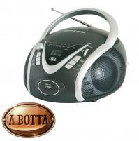 Radio Stereo Portatile Boombox Trevi CMP 542 Nero - Lettore CD USB Uscita Cuffie