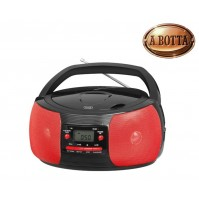 Radio Stereo Portatile CD Trevi CMP524 MP3 con Radio e Aux In ROSSO