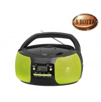 Radio Stereo Portatile CD Trevi CMP524 MP3 con Radio e Aux In VERDE