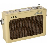 Radio Vintage Retrò Akai R150BT Crema Digitale con Bluetooth Sveglia USB SD AUX