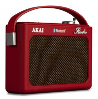 Radio Vintage Retrò Akai R150BT Rosso Digitale con Bluetooth Sveglia USB SD AUX