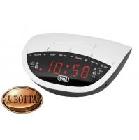 Radiosveglia Digitale Elettronica Trevi RC 825 D Bianco Radio con 10 Memorie