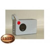 Radiosveglia con Speaker Bluetooth Akai AKBT60 Alarm Bianco 2 Watt Radio FM USB