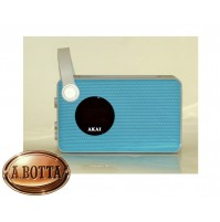 Radiosveglia con Speaker Bluetooth Akai AKBT60 Alarm Blu 2 Watt Radio FM USB
