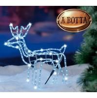 Renna Luminosa 168 Led da Esterno H 62 cm - Figura Natalizia Natale Luce Fredda