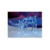Renna Luminosa 224 Led da Esterno H 45 cm - Figura Natalizia Natale Luce Fredda