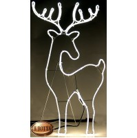 Renna Luminosa con 600 Led da Esterno 90x51 cm - Luce Calda con Timer Natale