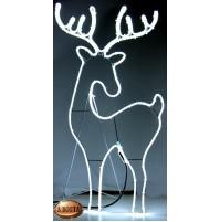 Renna Luminosa con 600 Led da Esterno 90x51 cm - Luce Fredda con Timer Natale
