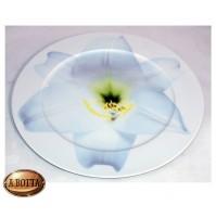 Rosenthal Classic Piatto in Porcellana 33 cm Fiore Bianco - Sottopiatto Dish